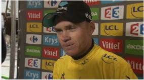 Chris Froome after winning stage 21 of the Tour de France