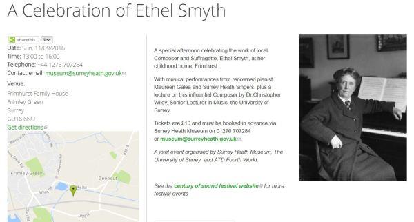 A celebrarion of Dame Ethel Smyth