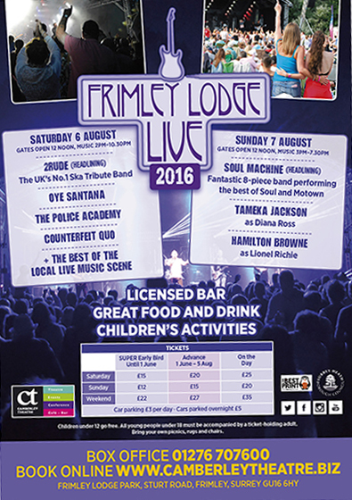 Frimley Lodge Live 2016