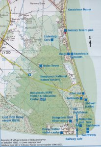 Map of Dungeness and Romney Marshes