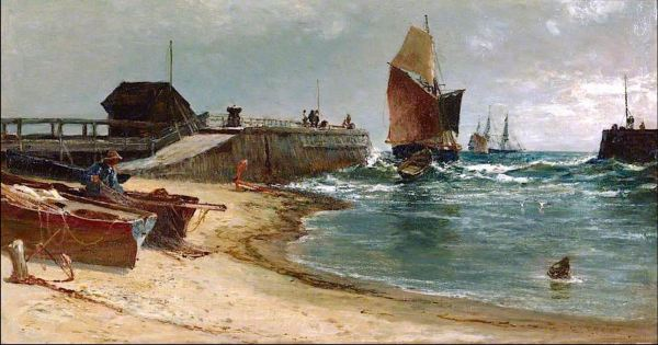 The Harbour Bar, Edwin Ellis [1842-1895]