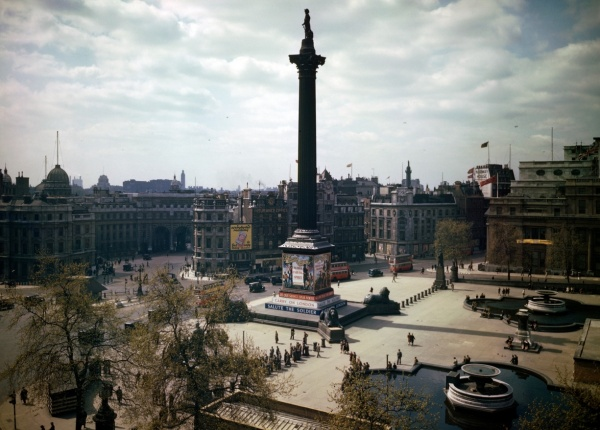 Trafalgar Square in wartime