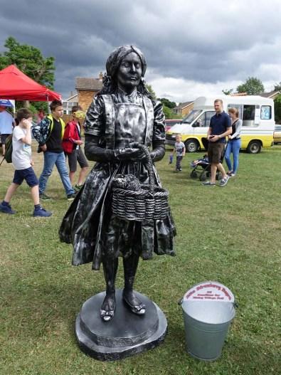 23-Silver Human Statue