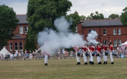 8-The King's First Guards re-enactment musket firing