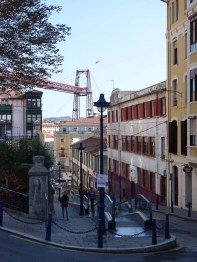 1-Bizkaia Bridge from high up in Portugalete town