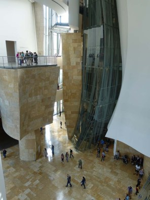6-Looking down in the Atrium of The Guggenheim Bilbao