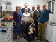 1-An official group photo in the new kitchen