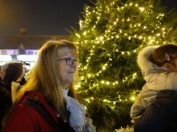 4-The Mayor having just switched on the Christmas tree lights