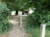 2-Path leads to St John the Baptist Church, Bisley