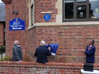 1-Bisley Village Hall Blue Plaques (8b)