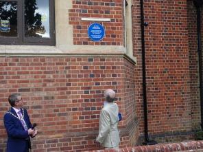 1-Bisley Village Hall Blue Plaques (8c)