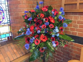 1-Flowers for the Remembrance service
