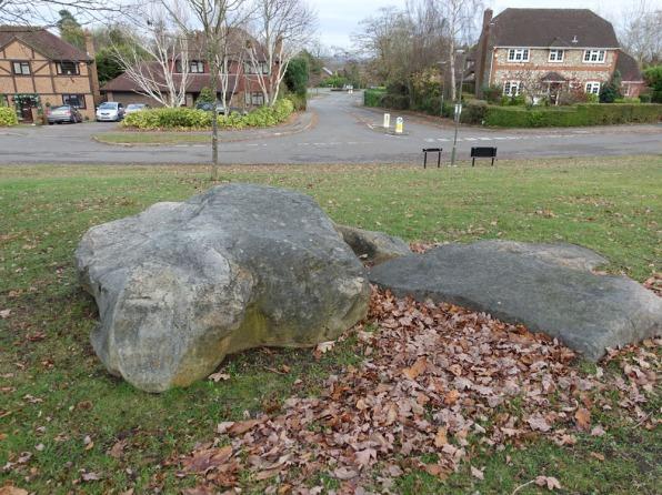4-Sarsen stones in Corbett Drive, Lightwater