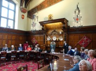 6_Party seated in the Livery Hall